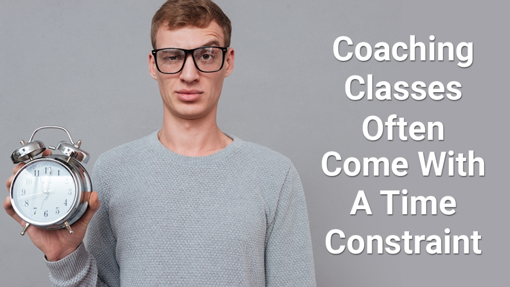 Coaching classes may help you prepare for GMAT but you need to free you schedule